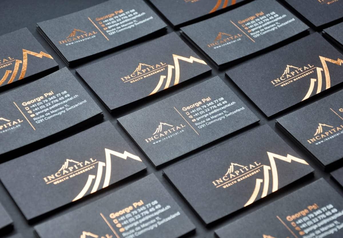 黑卡名片設計-投資理財