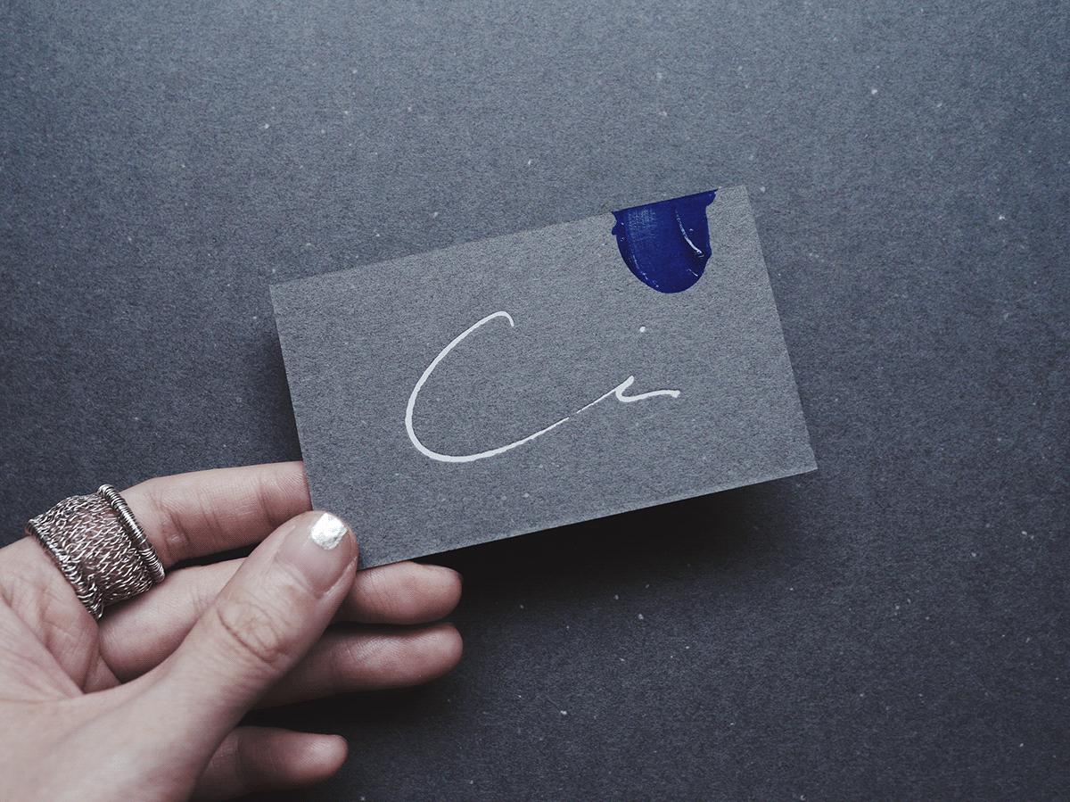 名片設計-燙白字體