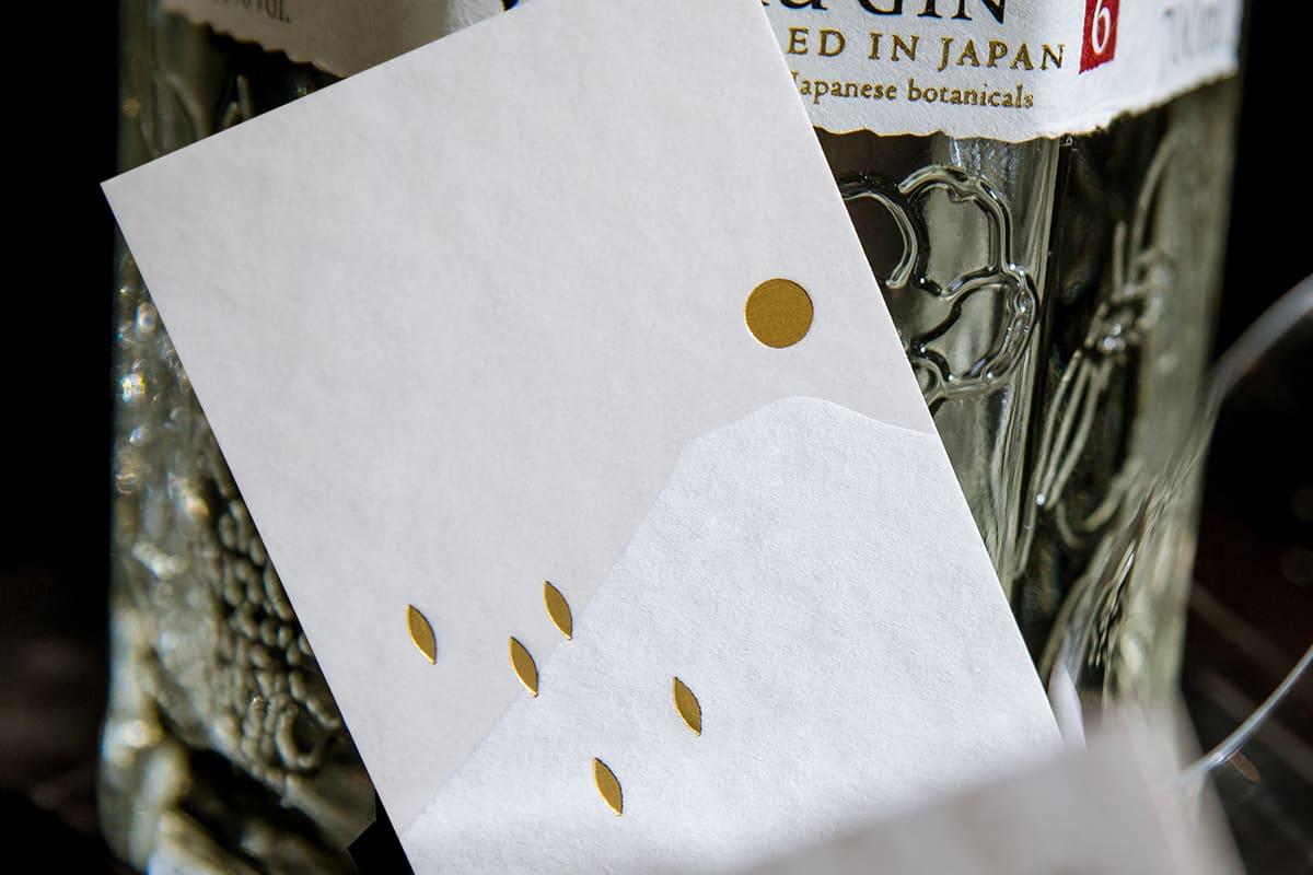 日式名片燙印加工-珍珠箔加工