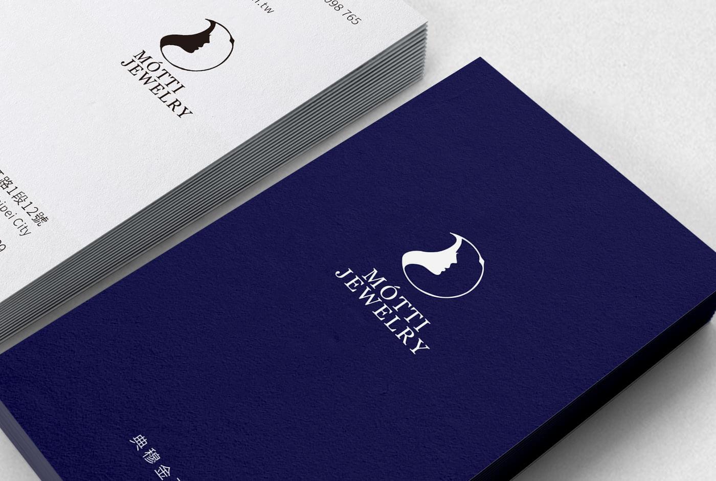 簡單的創意金工珠寶工作室個人名片設計-博凱名片設計作品欣賞
