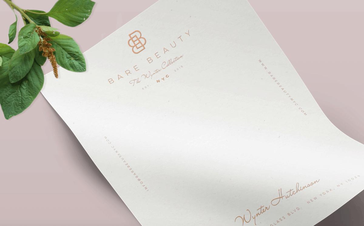 護膚/保養品牌設計推薦-信紙設計