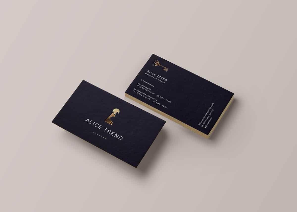 珠寶品牌名片設計