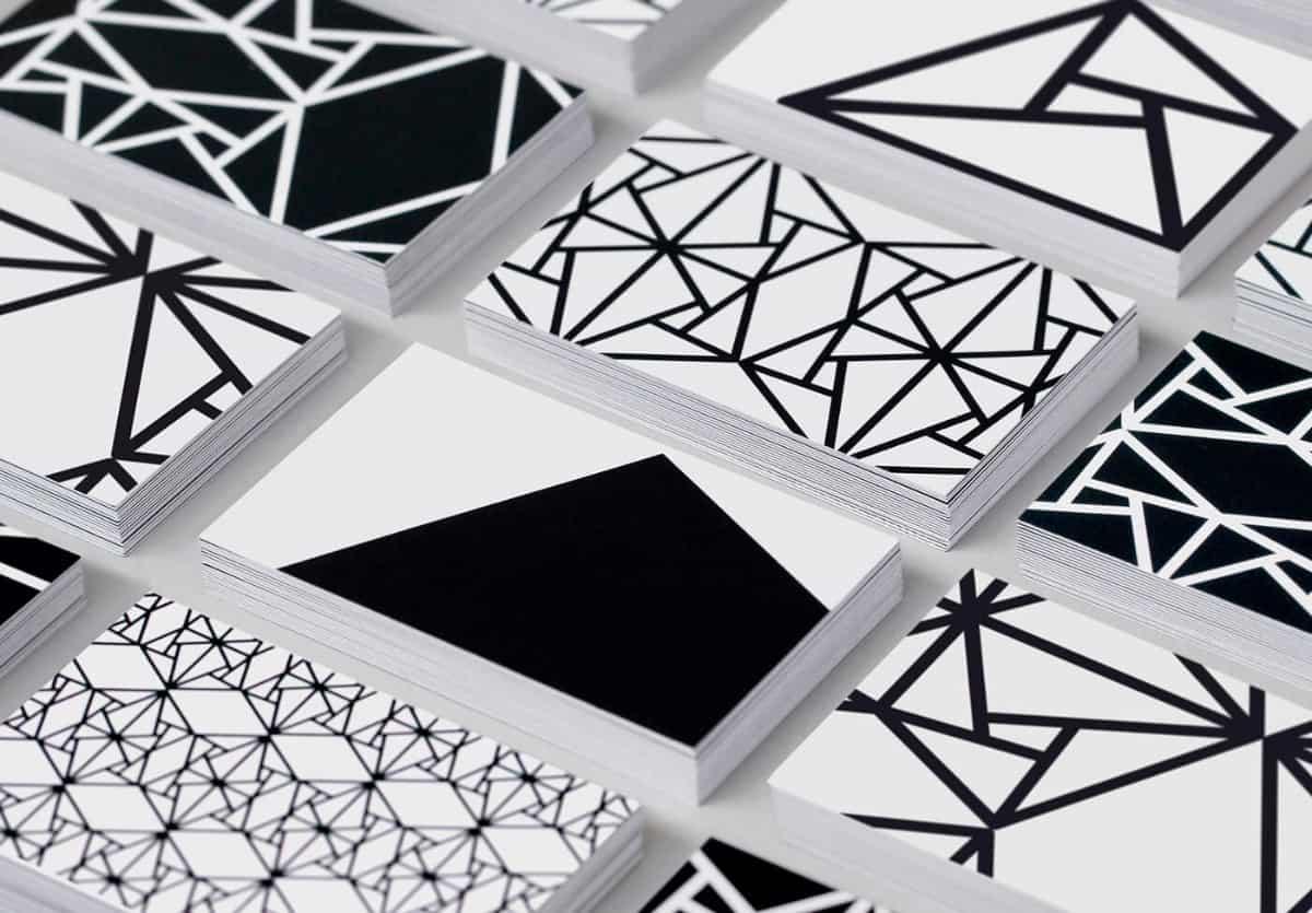 黑白主題名片設計-極簡風格