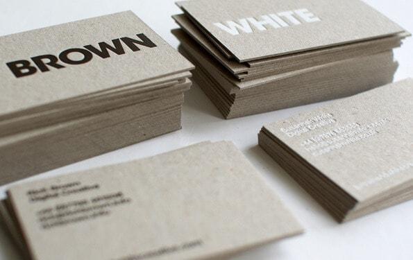名片紙質-灰紙板,簡約名片設計
