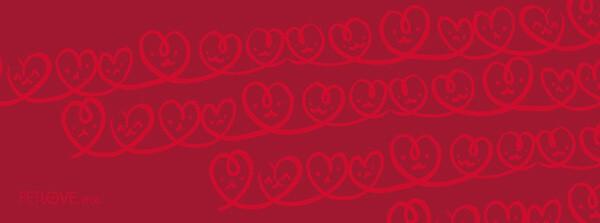 紅色插圖(愛心)