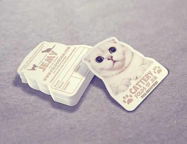 寵物旅館名片設計-貓咪款式