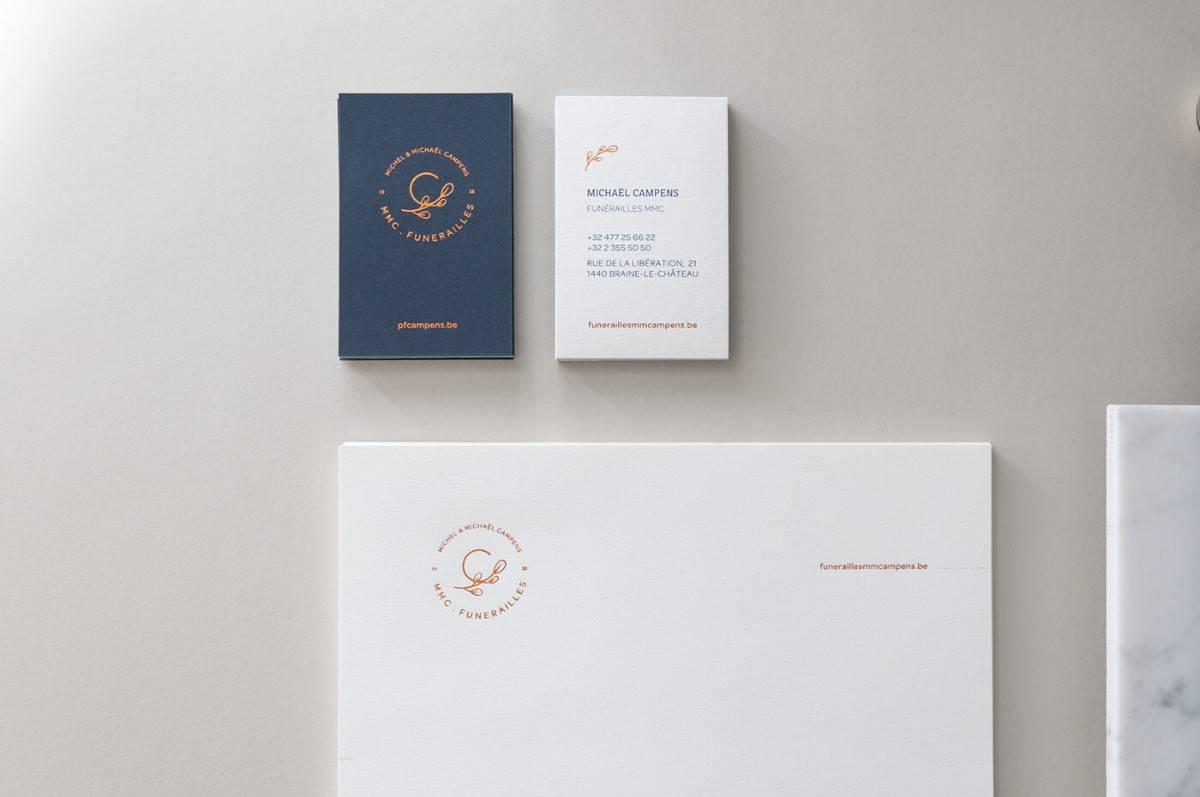 禮儀公司、葬儀社、會場布置的信紙/名片設計