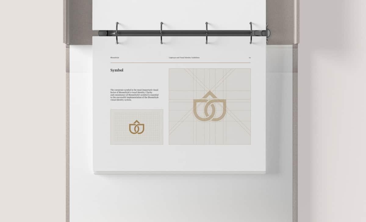 鮮花宅配品牌標誌設計