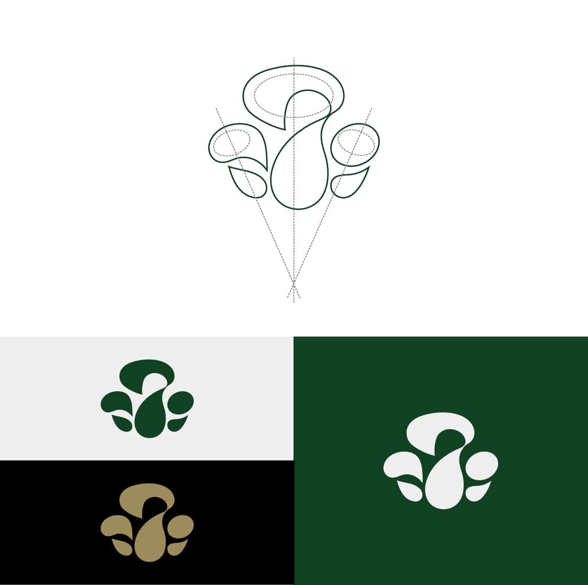 生技農場LOGO設計-色彩設定