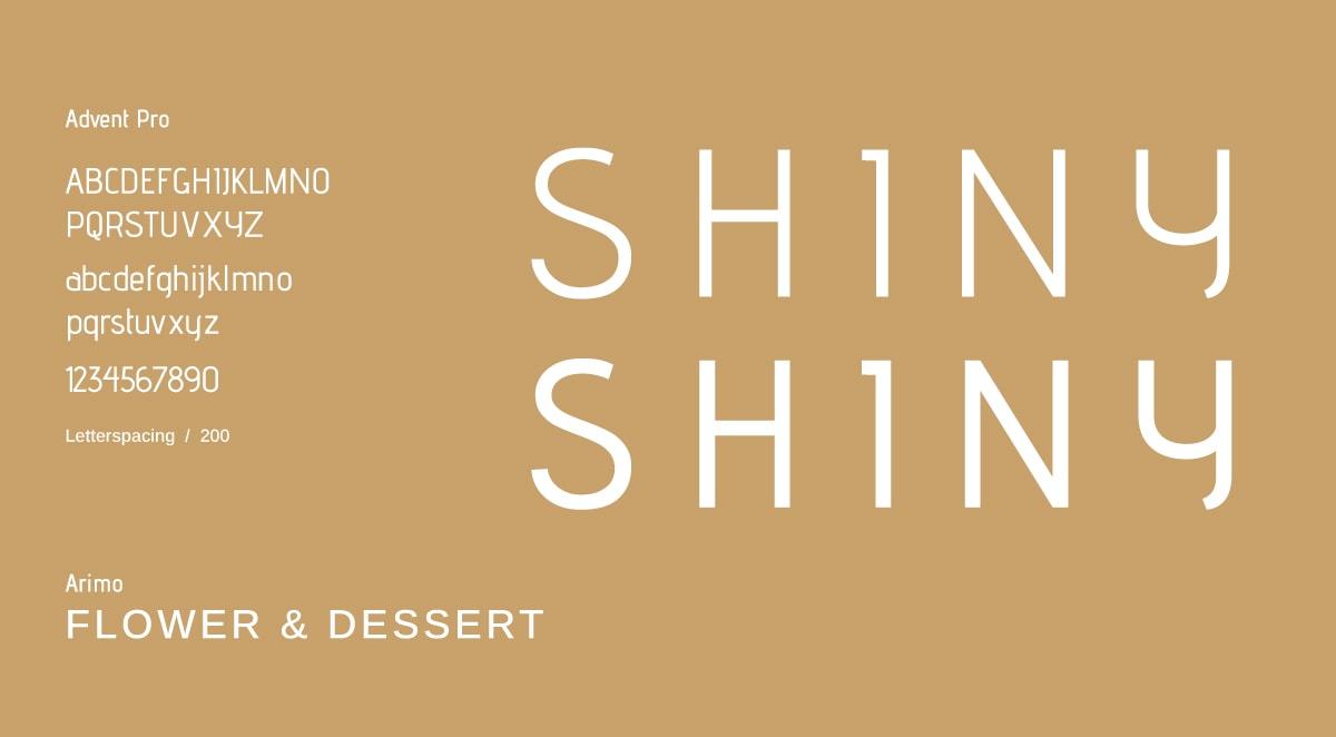 甜點品牌CIS設計-字體設定