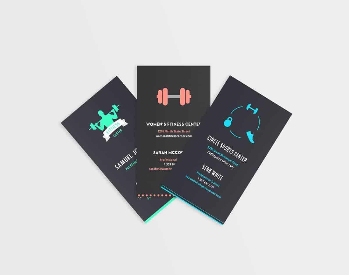 舉重/重訓/體適能運動中心名片設計