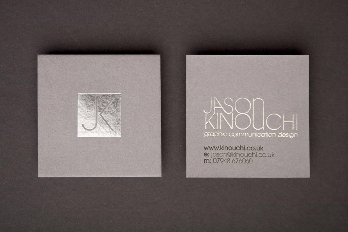 特殊紙質、燙銀名片設計