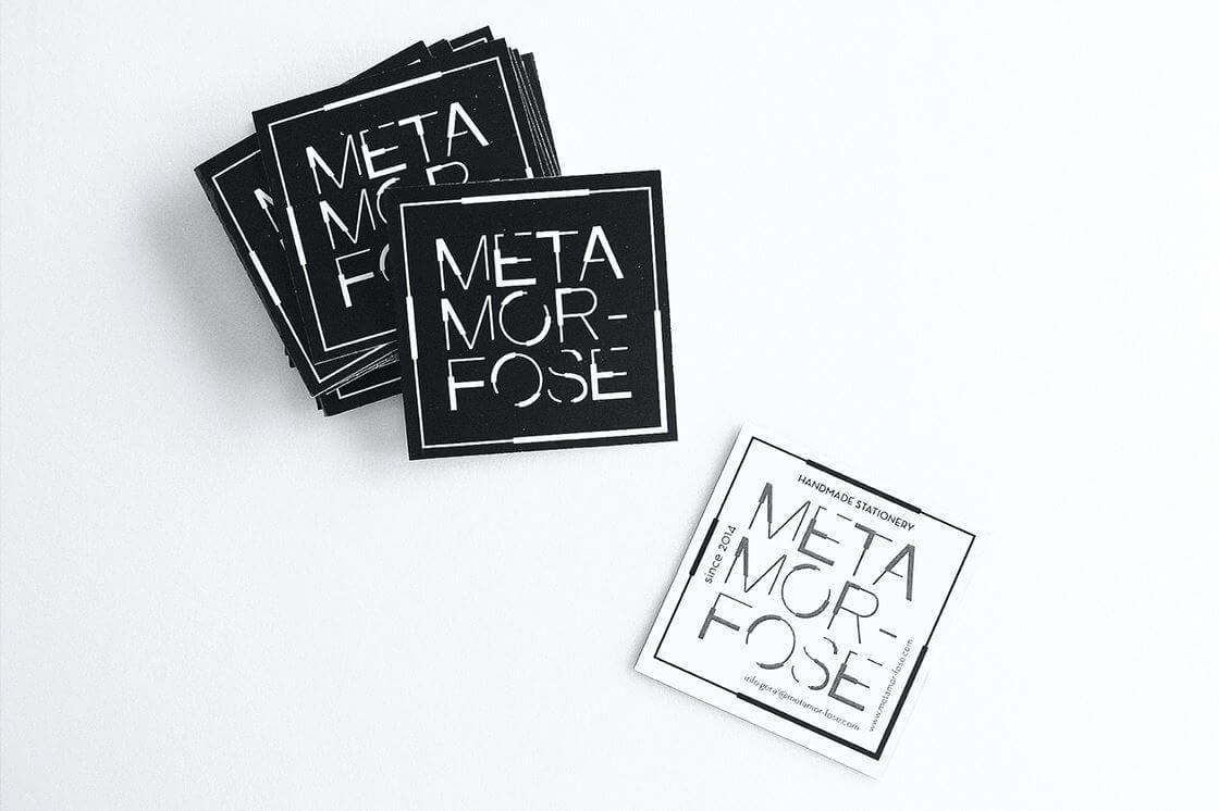 品牌設計-黑白名片設計案例