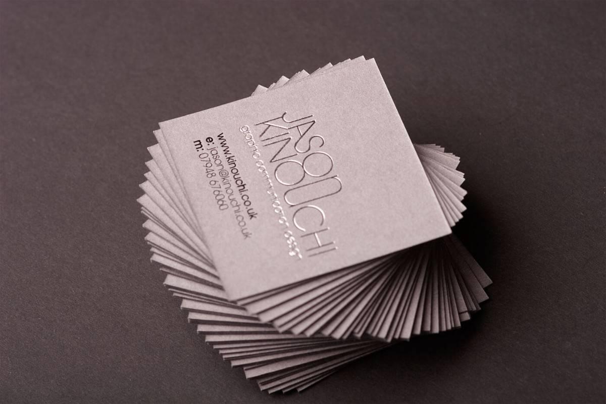 高質感的名片設計-燙銀/燙印