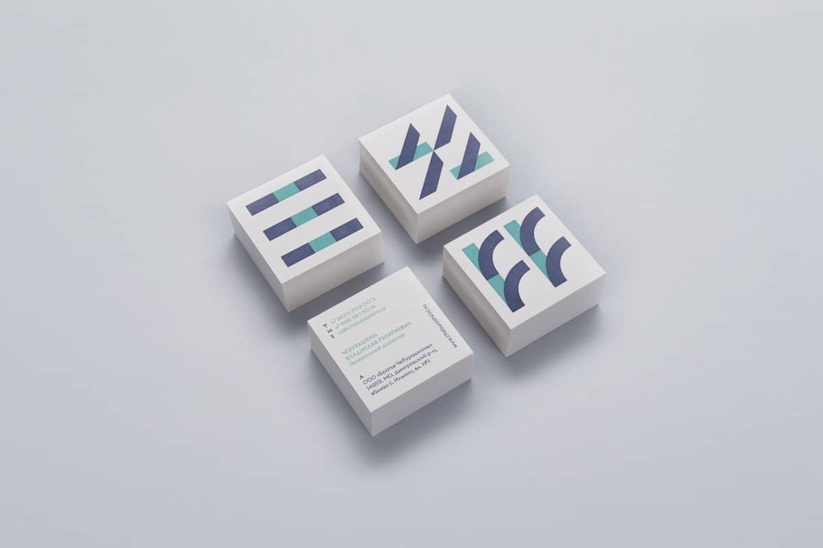 簡約的名片設計、品牌設計