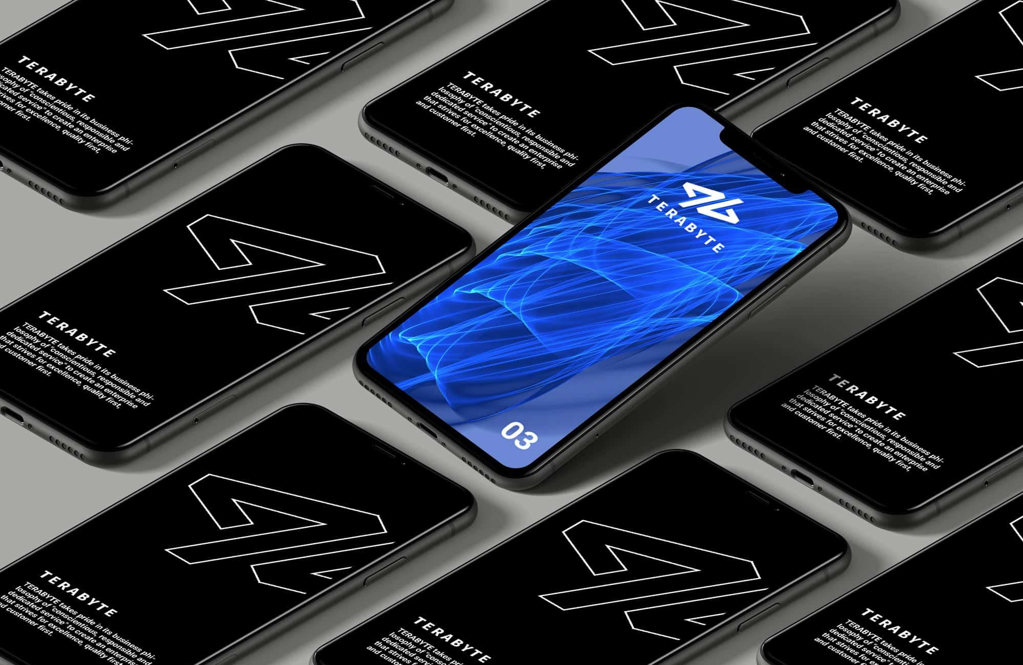 通訊工業LOGO設計-手機展示