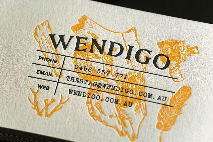 壓印打凸-簡潔風格的名片設計