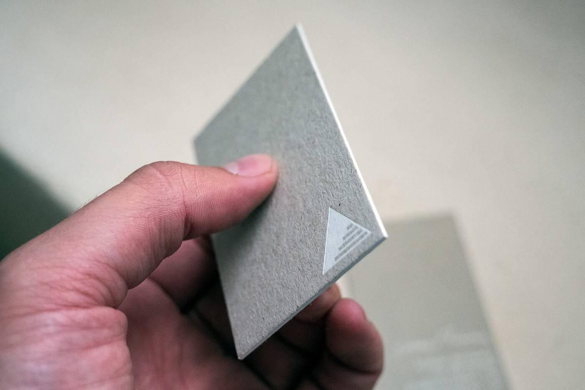 名片設計-灰紙板+燙白