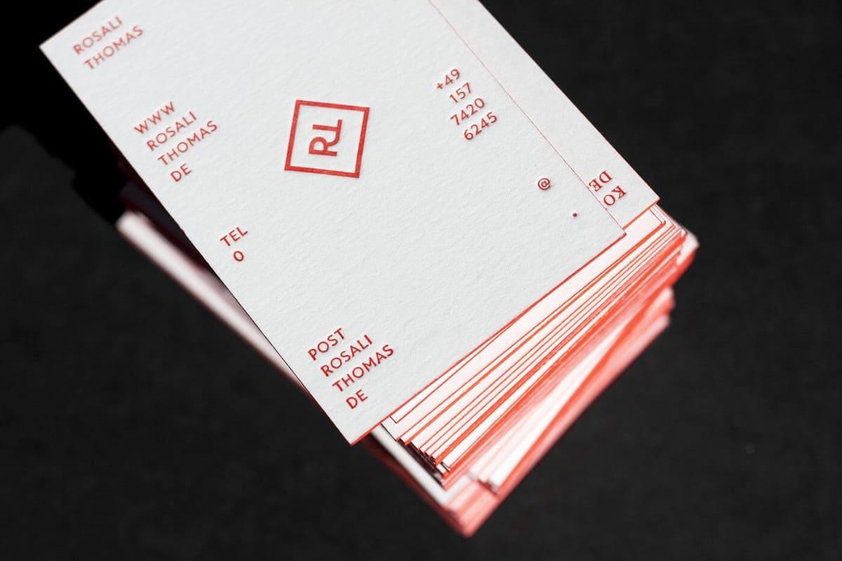 名片製作-凸版印刷-紅色