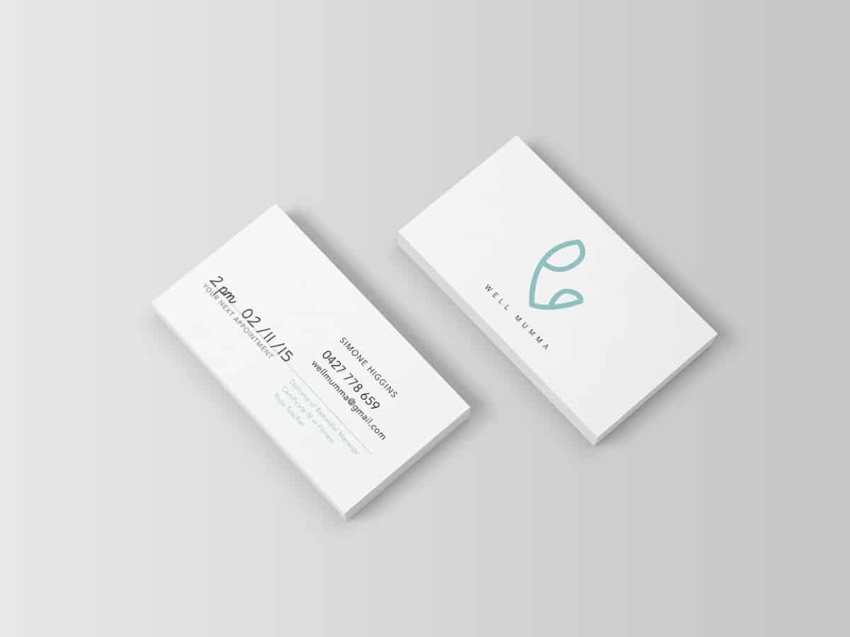 名片設計-婦科診所預約卡設計