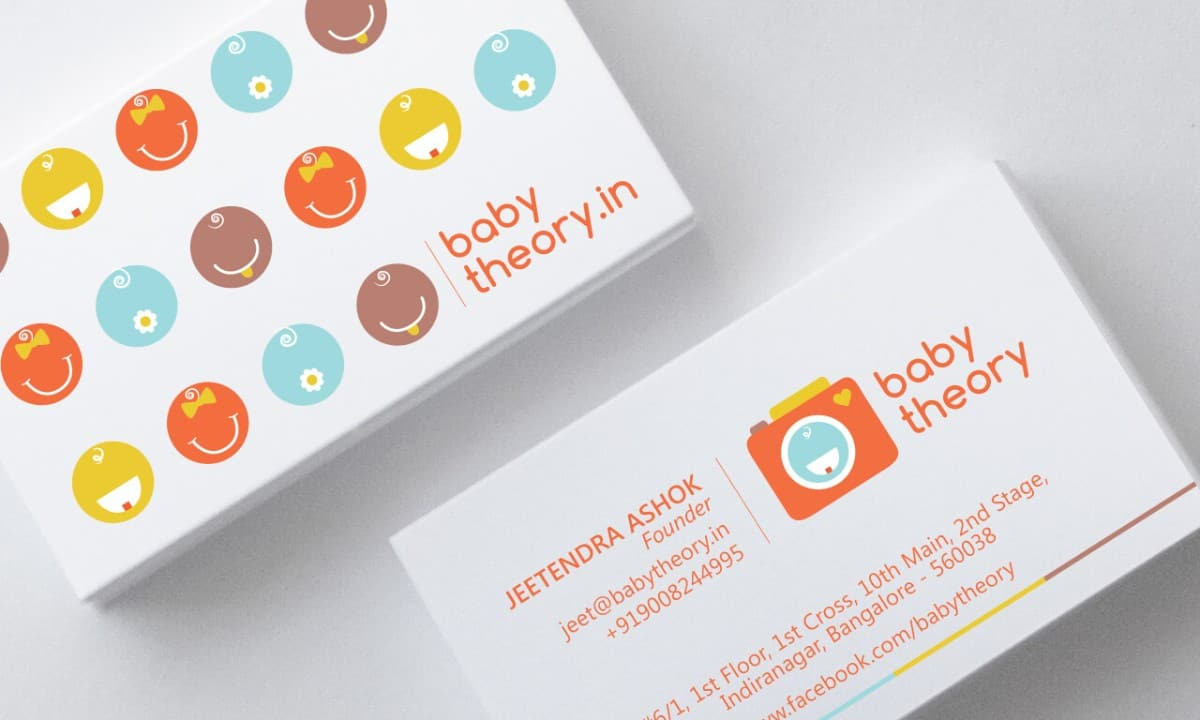 嬰兒用品-名片設計分享