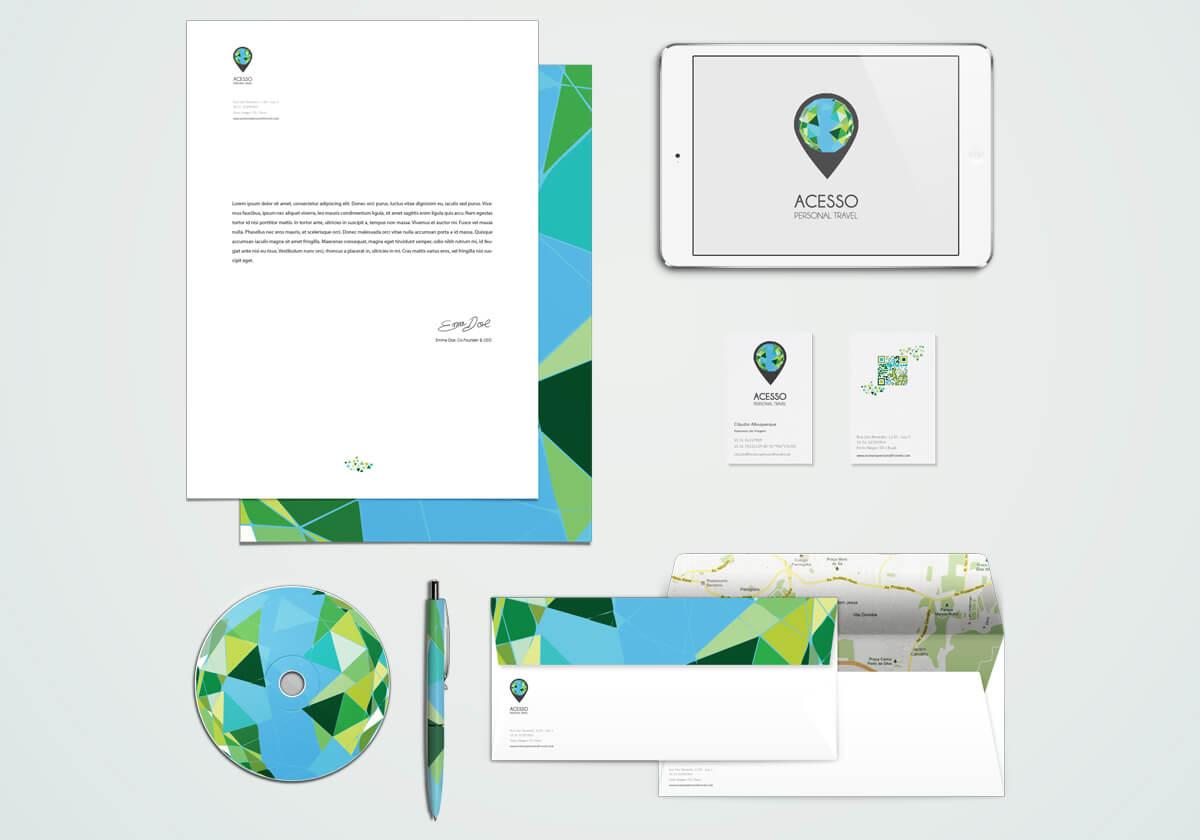 旅行業視覺設計範本