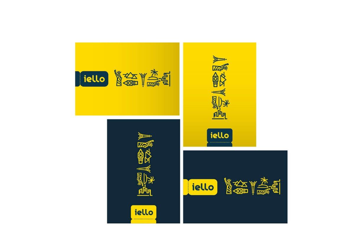 旅遊業名片設計(黃色)