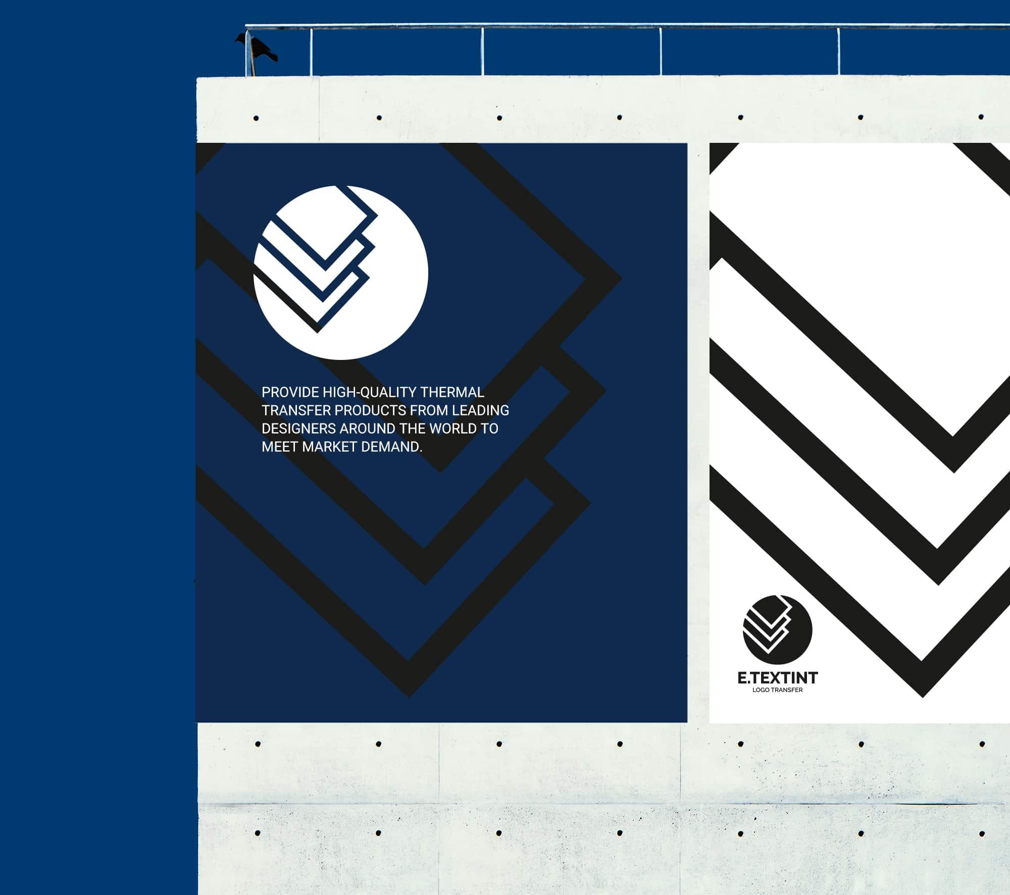 轉印品牌LOGO設計-牆面廣告設計