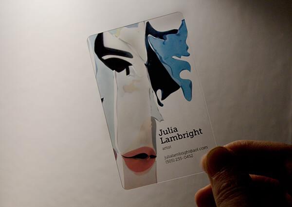 藝術產業的名片設計
