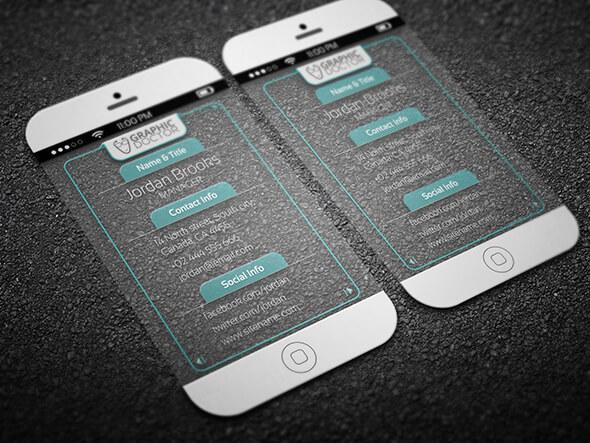 名片設計-手機外觀的名片