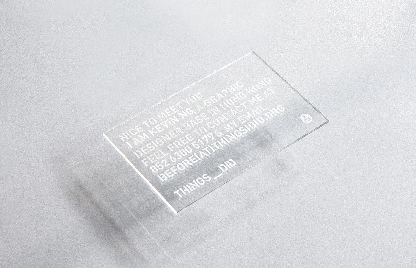 透明卡的名片設計