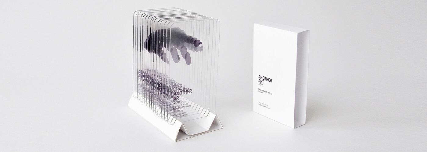 名片設計精選集 – 透明的名片設計案例