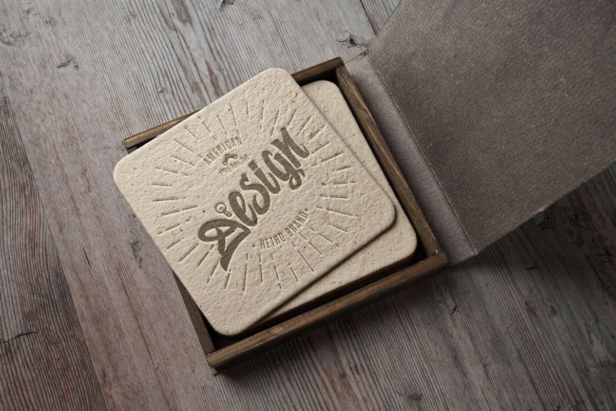 厚紙的名片設計-古典風格