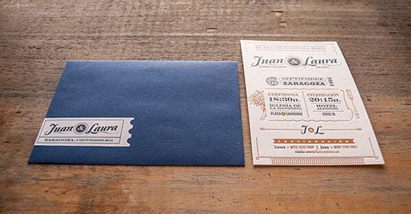 復古風格的邀請卡、喜帖設計