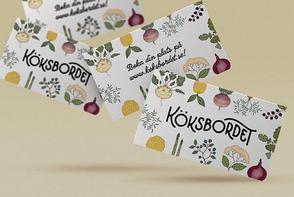 手繪水果的名片設計