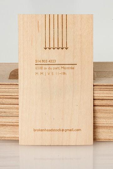 簡約名片設計(木頭/木片)