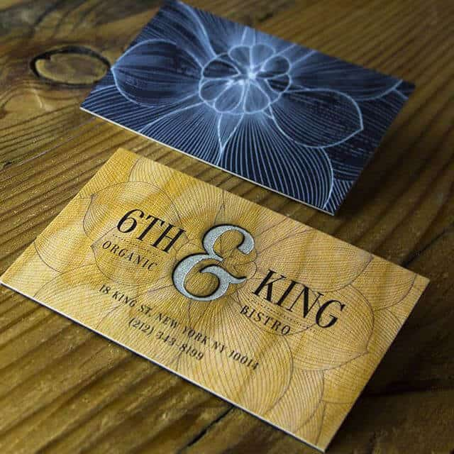 名片設計-細緻木紋名片製作