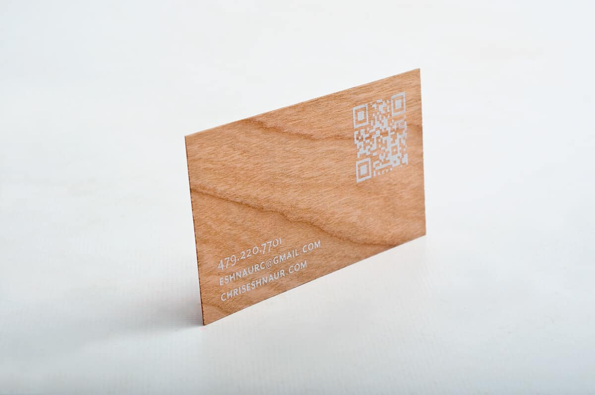木紋QR code名片設計