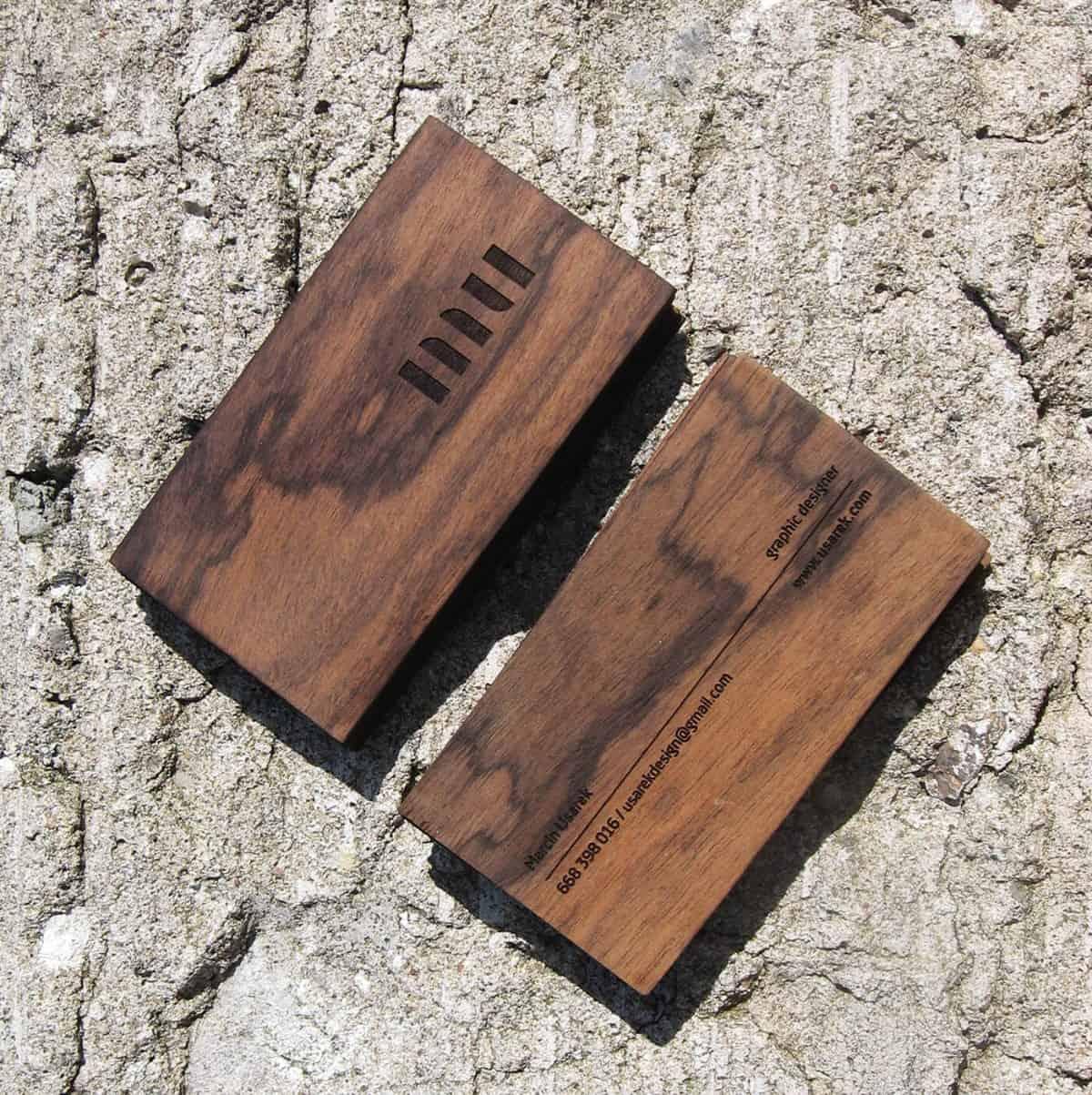 名片設計-木頭質感