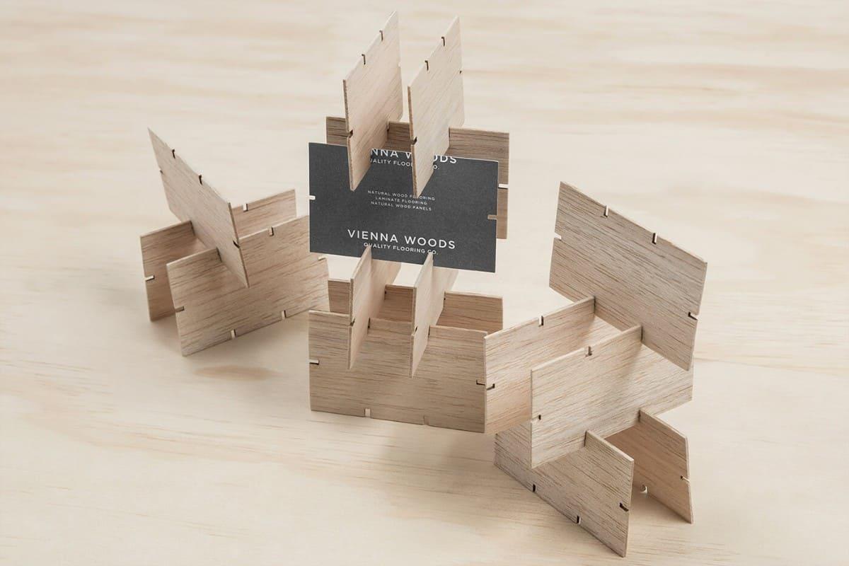 名片設計(木材材質)